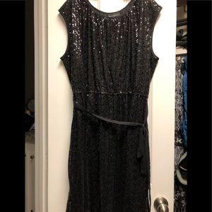 Lane Bryant Black Sequins Cocktail Dress